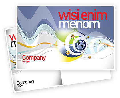 Telecommunication: Communication Network Postcard Template #04058