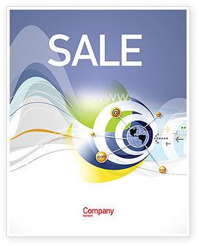 Telecommunication: 通讯网络海报模板 #04058