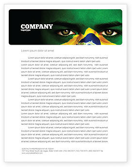 Flags/International: Face Of Brazil Letterhead Template #04059