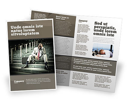 Economic Crisis Brochure Template