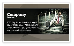 People: Economic Crisis Business Card Template #04061