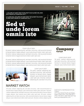 People: Economic Crisis Newsletter Template #04061