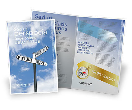 Future Past Brochure Template, 04063, Business Concepts — PoweredTemplate.com