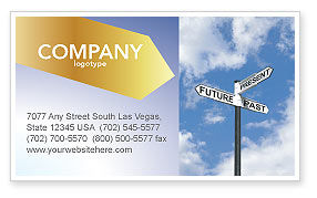 Future Past Business Card Template, 04063, Business Concepts — PoweredTemplate.com