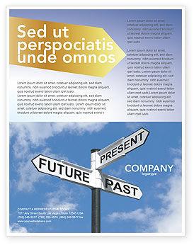 Future Past Flyer Template, 04063, Business Concepts — PoweredTemplate.com