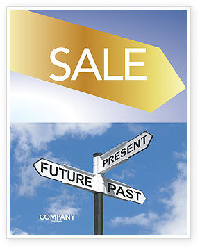 Business Concepts: Future Past Sale Poster Template #04063