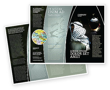 People: Arabisch-israëlisch Conflict Brochure Template #04064