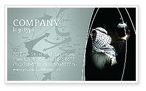 Arab-Israeli Conflict Business Card Template, 04064, People — PoweredTemplate.com