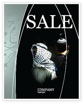 Arab-Israeli Conflict Sale Poster Template, 04064, People — PoweredTemplate.com