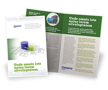 Technology, Science & Computers: Data Bases Brochure Template #04066