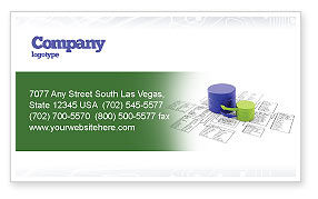 Technology, Science & Computers: Data Bases Business Card Template #04066