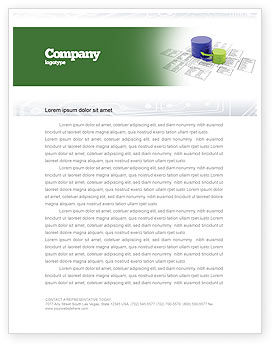 Data Bases Letterhead Template, 04066, Technology, Science & Computers — PoweredTemplate.com
