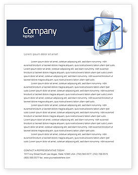 DNA Diagnostics Letterhead Template, 04067, Medical — PoweredTemplate.com