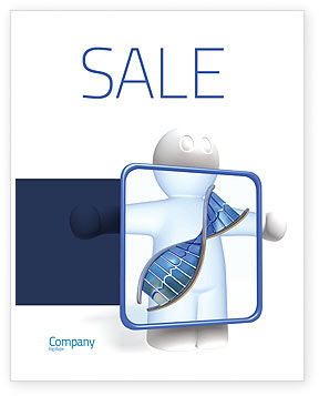Medical: DNA Diagnostics Sale Poster Template #04067