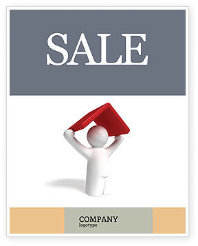 Shelter Sale Poster Template, 04072, Consulting — PoweredTemplate.com