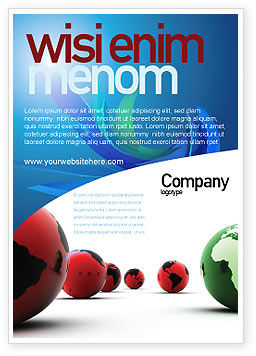 Another World Ad Template, 04074, Global — PoweredTemplate.com