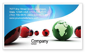 Another World Business Card Template, 04074, Global — PoweredTemplate.com