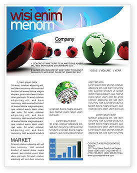 Another World Newsletter Template, 04074, Global — PoweredTemplate.com