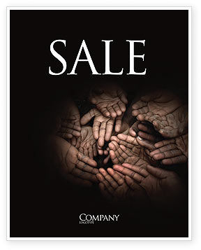 Poverty Sale Poster Template, 04075, Religious/Spiritual — PoweredTemplate.com