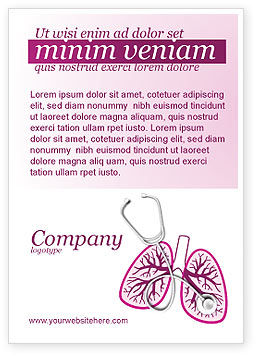 Human Lungs Ad Template, 04078, Medical — PoweredTemplate.com