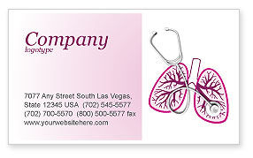 Human Lungs Business Card Template