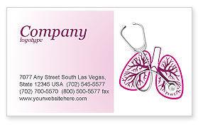 Human Lungs Business Card Template, 04078, Medical — PoweredTemplate.com