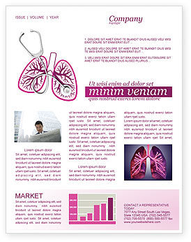 Human Lungs Newsletter Template
