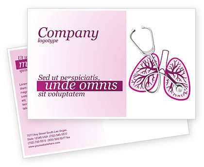 Human Lungs Postcard Template#1