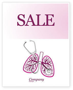 Human Lungs Sale Poster Template, 04078, Medical — PoweredTemplate.com