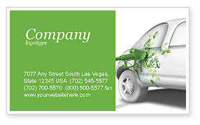 Nature & Environment: Biogas Business Card Template #04080