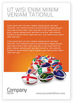 Flags/International: Union Landen Advertentie Template #04081