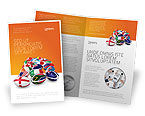 Flags/International: Modello Brochure - Unione dei paesi #04081