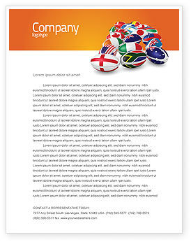 Union of Countries Letterhead Template, 04081, Flags/International — PoweredTemplate.com