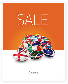 Flags/International: Union of Countries Sale Poster Template #04081