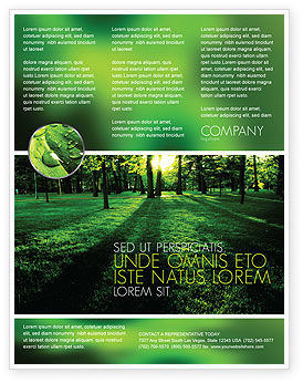 Woods Flyer Template, 04082, Nature & Environment — PoweredTemplate.com