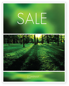 Woods Sale Poster Template, 04082, Nature & Environment — PoweredTemplate.com