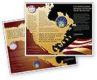 America: Plantilla de folleto - vieja gloria bandera de los eeuu #04083