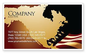 America: Old Glory USA Flag Business Card Template #04083