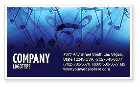 Art & Entertainment: Sounds of Music Business Card Template #04084