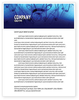 Art & Entertainment: Sounds of Music Letterhead Template #04084