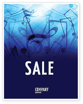 Sounds of Music Sale Poster Template, 04084, Art & Entertainment — PoweredTemplate.com