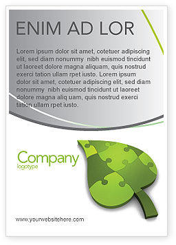 Nature & Environment: Green Ideas Ad Template #04090
