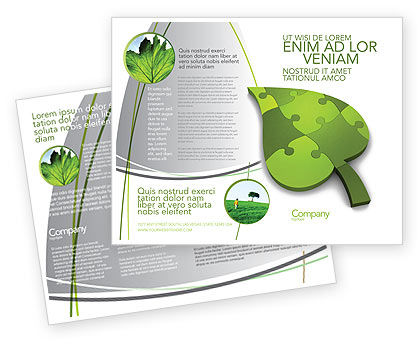 Nature & Environment: Plantilla de folleto - ideas verdes #04090