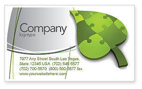 Nature & Environment: Green Ideas Business Card Template #04090