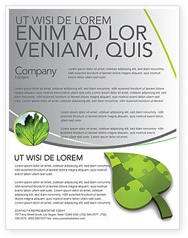 Green Ideas Flyer Template, 04090, Nature & Environment — PoweredTemplate.com