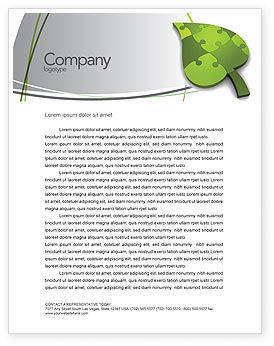 Green Ideas Letterhead Template, 04090, Nature & Environment — PoweredTemplate.com