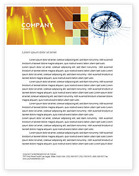 Business Concepts: Choosing Direction Letterhead Template #04091