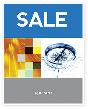 Business Concepts: Choosing Direction Sale Poster Template #04091