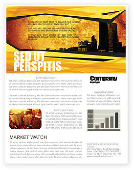 Construction: Skyline Of A City Newsletter Template #04096