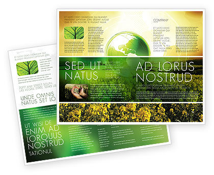 Nature & Environment: Modern Agriculture Brochure Template #04097